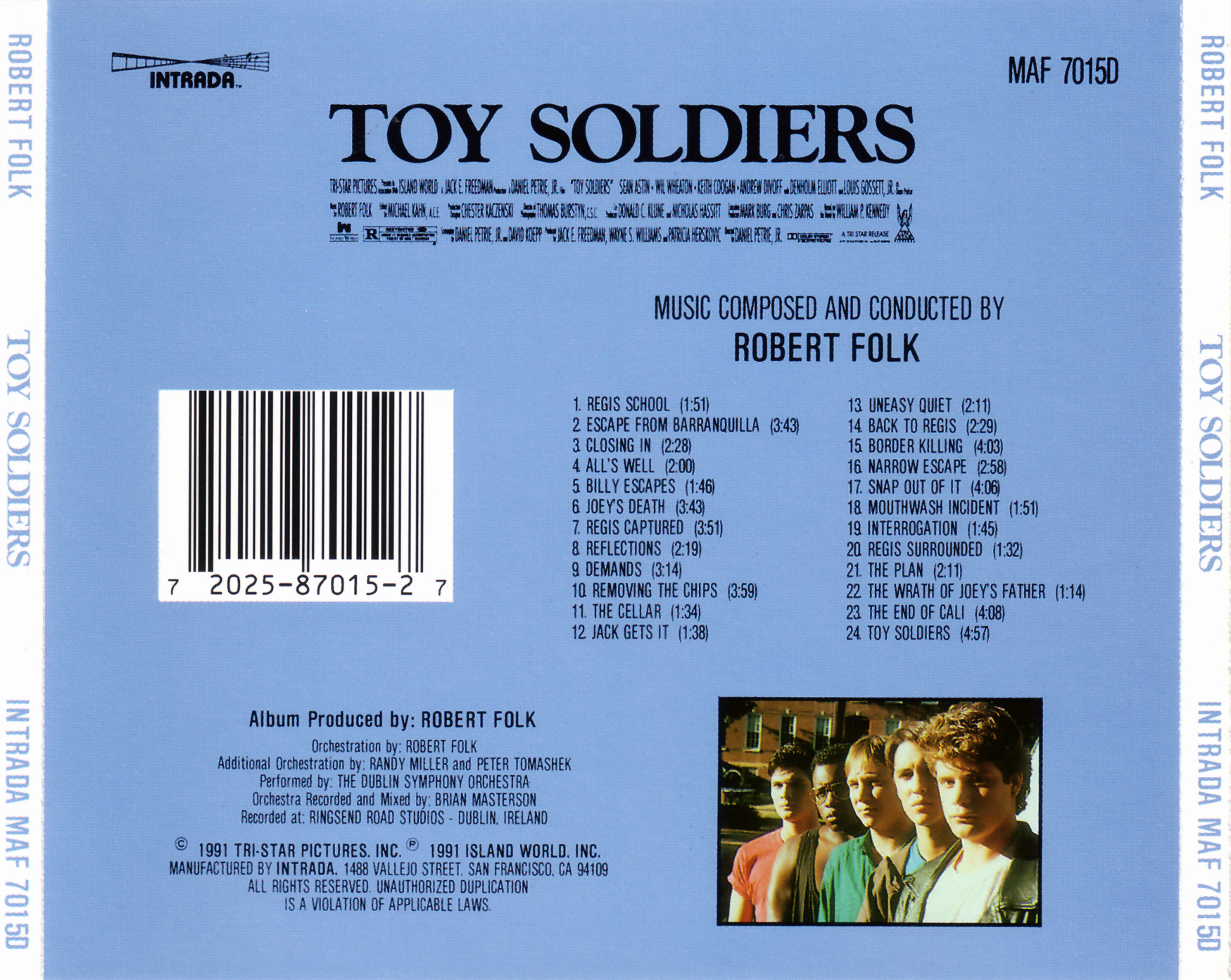 Toy soldiers soundtrack